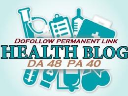 Dofollow link juice from Health Blog DA 48