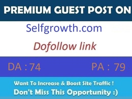 Publish guest post on Selfgrowth.com – DA 80 with dofollow links