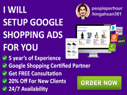 Setup google shopping campaign for you