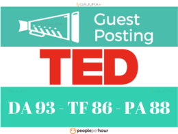 Do Real Guest Post on TED - TED.com DA 93 Do-Follow Link