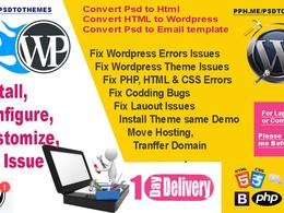 Fix  Any Wordpress Issues, Fix Wordpress Bugs or Problem