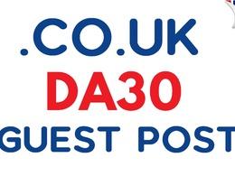 Publish a Guest Post on .CO.UK DA30 Blog Website