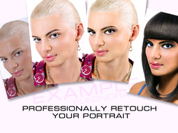 Professionally fashion retouch your portrait 3 photos