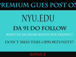 Guest Post via blogger outreach on New York University - Nyu.edu