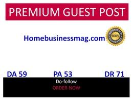 Publish guest post in Homebusinessmag Homebusinessmag.com