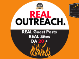 Do REAL Blogger Outreach DA 20+