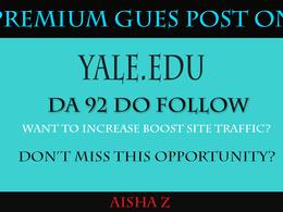 Guest posting on Yale University - Yale.Edu - DA 92