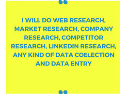 Do research for 100 companies/websites/contacts