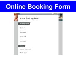 Design Online Booking Form