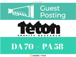 Publish a Guest Post on Tetongravity - Tetongravity.com DA 70