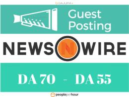 Publish 2 Guest Post on NewsWire.net DA70 and Medium.com DA93