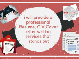 Create professional resume and cover letter