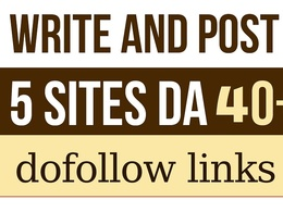 Write Publish 5 dofollow Authority Guest Post DA 95+