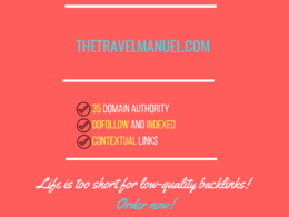 Add a guest post on thetravelmanuel.com, DA 35