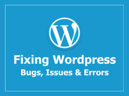 Fix WordPress , Website Issues, Theme Error, Plugins Errors