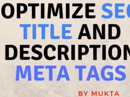 Optimize SEO Title And Description Meta Tags