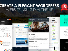 Create an Informational Responsive Website using Wordpress/HTML