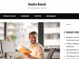 Guest Post on Annika Bansal - AnnikaBansal.com DA92 | Dofollow