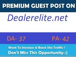 Publish guest post on automotive blog dealerelite.net