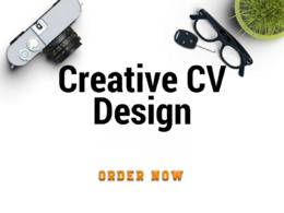 Design Creative, Custom,Attractive and Professional Resume(CV)