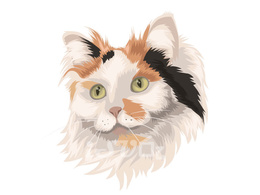 Make amazing vector portrait of your pet