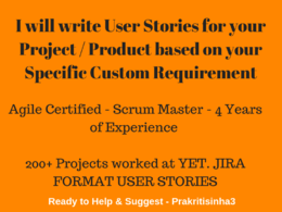 Create Agile User Stories for your Product/ Project Development