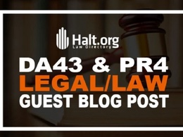 Guest Post On Law Niche Website Halt- Halt.org DA 43