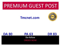 Publish guest post in Tmcnet- Tmcnet.com DA 80 DR 83 do-follow