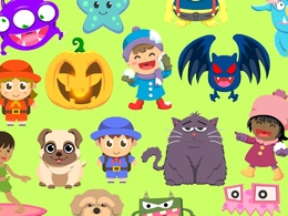 Create cute cartoon  character vector in 24 hours