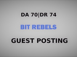 Publish a guest post on Bit Rebels - DA70, DR74