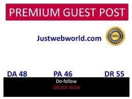 Guest post in Justwebworld Justwebworld.com DA 48 DR 55