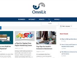 Guest post on Omnilit.com business website - DA 46