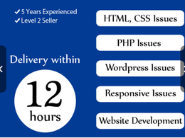 Develop Website And Fix Html, Css and responsive Issues