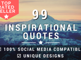 I Will Create 99 Inspirational Image Quotes With Logo In 48h