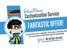 Do any WordPress Customization, Edit or fix any issues