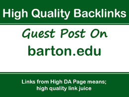 Publish a Guest Post on Barton.edu, Google PR4