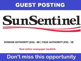 Write & post on sun-sentinel.com , Sun-sentinel DA 88 - PA 58