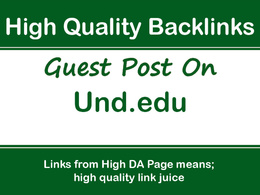 Publish a Guest Post on Und.edu, DA77, PA59 with Dofollow Link