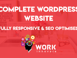 Create/design WordPress website, Responsive & SEO friendly