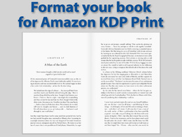 Format your book ready for upload to Amazon KDP Print
