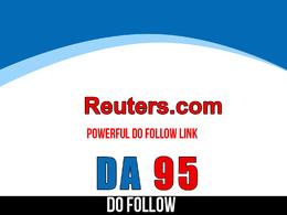 Publish guest post on Reuters - Reuters.com DA 95 Dofollow link