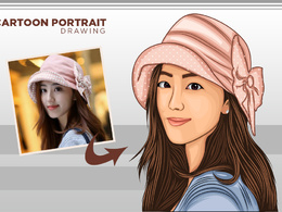 Draw caricature, cartoon portrait, avatar from Photo in 48 hours