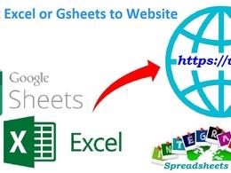 Do excel spreadsheets or google sheets web integration