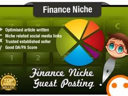 Publish 5 Guest Posts on Finance Niche Domains DoFollow DA 40+