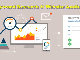 Do keyword research + website analysis