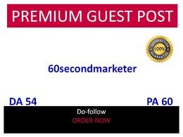 Guest post in 60secondmarketer - 60secondmarketer.com DA 54