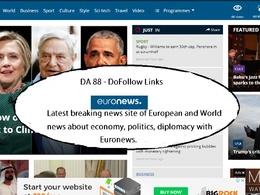 Guest Post on EURONEWS Top News Site euronews com DA 88 DoFollow