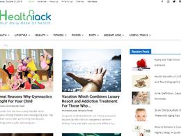 Guest post on Healthiack.com health website - DA 56