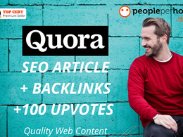 ★ Publish 400 word Quora SEO article w/ BACKLINKS + 100 UPVOTES★