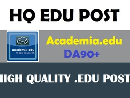 Write and post on Academia.edu DA 90 EDU blog